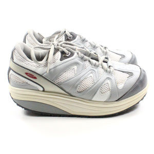 MBT Women's White/Gray Milano Toning Shoes